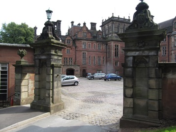 Keele Hall Courtyard, © Stephen Clifford, August 2011